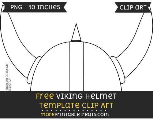 Free Viking Helmet Template - Clipart | Viking helmet
