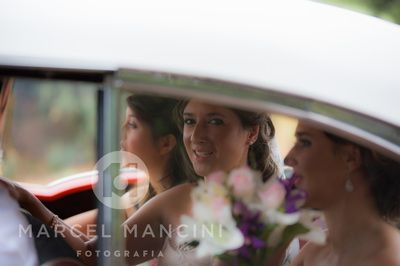 Bride on her way to the venue