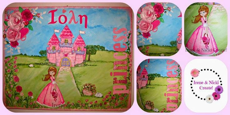 Irene & Nicki Create!  :                     Personalized Princess Canvas A...