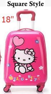 "16"" 18"" Inch Luxury Brand Children Travel Luggage Case Supreme Cartoon Kid's rolling luggage Trolley Bag Kids suitcase on wheels"