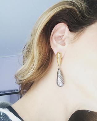 183EURO  //NEW COLLECTION //COCOON EARRING//SILVER 925//GOLD PLATED//RODIUM PLATED//CODE>E0098