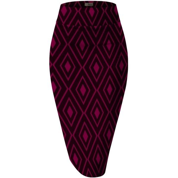 H&C Women's Elastic Waist Stretchy Office Pencil Skirt With Beautiful... ($9.99) ❤ liked on Polyvore featuring skirts, pencil skirts, patterned pencil skirt, print pencil skirt, elastic waistband skirt and elastic waist pencil skirt