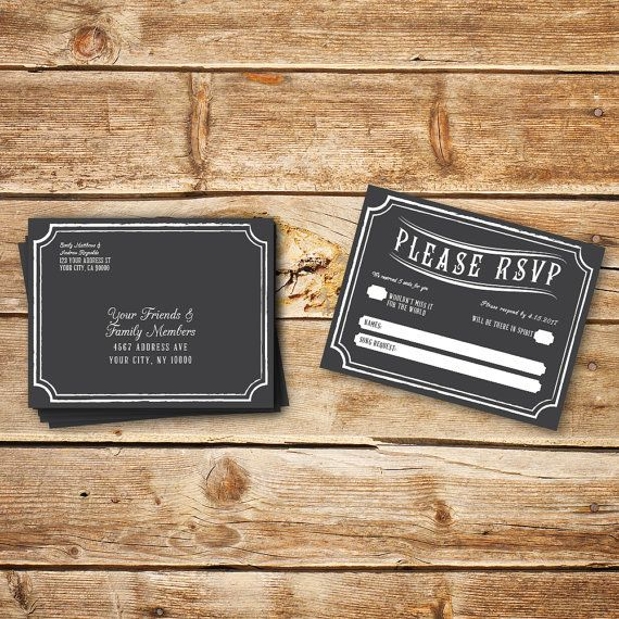 The Best Wedding RSVP Templates Images On Pinterest Wedding - Wedding save the date postcard templates free