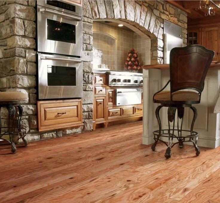 Rustic hickory flooring decor ideas