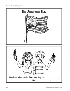 """""""The American Flag"""" booklet"""