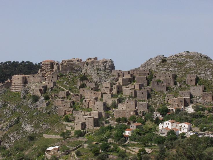 Chios island Anavatos Medieval village
