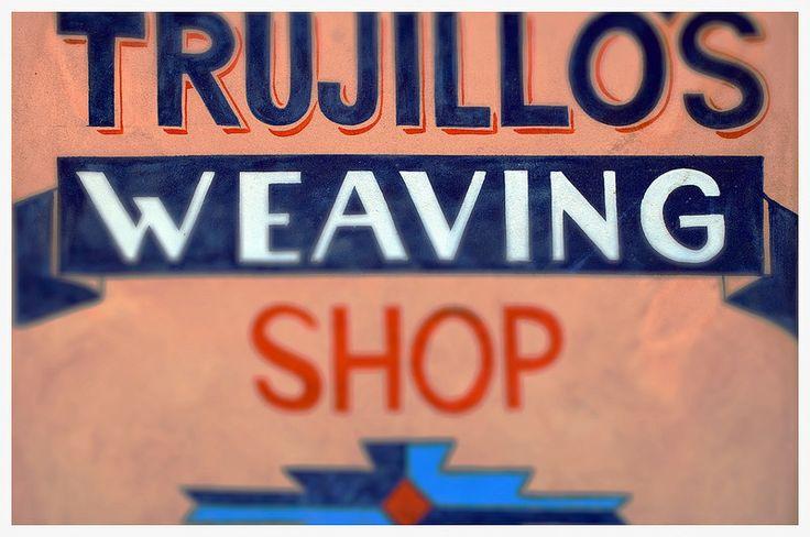 Trujillo's Weaving Shop Chimayo New Mexico Sign