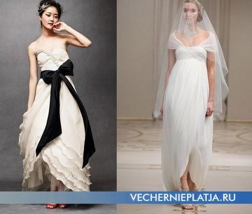 Свадебные платье с юбкой тюльпан