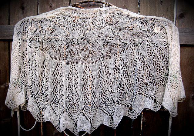 Ravelry: Debra Peacock Tail Shawl pattern by Kimberly Golynskiy