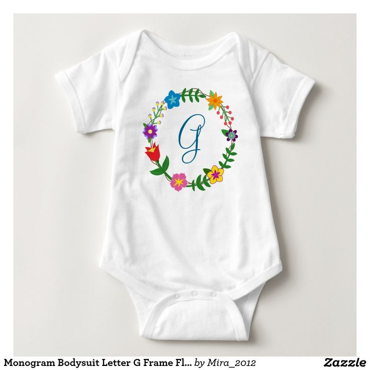 Monogram Bodysuit Letter G Frame Flowers. great new baby gift for a boy whose name starts with G: George, Gabriel, Gabbi, Gabbie, Gahan, Greg, Gerald, Gilbert, Graham, Giovanni, Galvin, Galten, Galieno, Gabe, Gordon, Gerard, Gustav, Gustavo, Galan, Garry, Garvey, Gary, Garson, Garreth, Griffin, Gideon, Guy, Gaspard, Gerhard, Grady, Gil, German, Giacomo, Gianluca, Gibson, Giannini, Gian, Giles, Gillie, Gilead, Guillermo, and so on. There are two types of cursive G letters to choose from.
