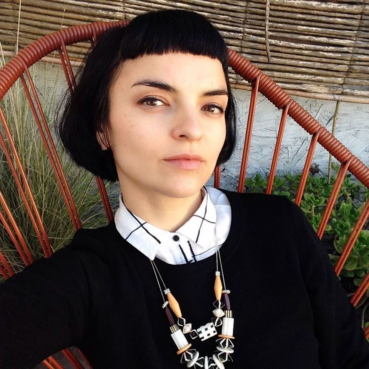 The artist Ana Montiel with our necklaces Desert y Wood.