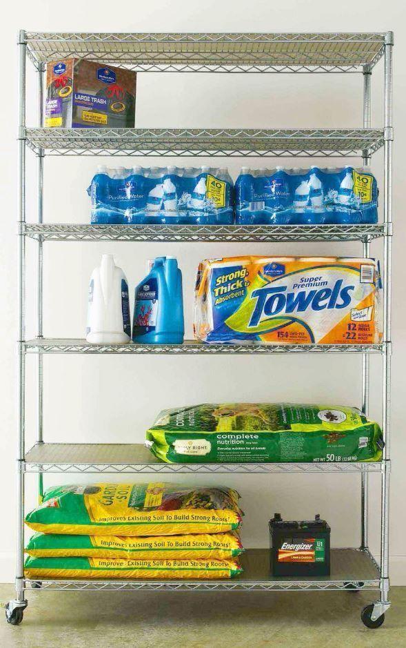 Shelving Units And Storage Metal Shelves For Garage Laundry Commercial Steel  #UnbrandedGeneric