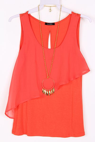 Lilly Chiffon Top in Persimmon....wondering if this would be flattering on me...but love the cut!!