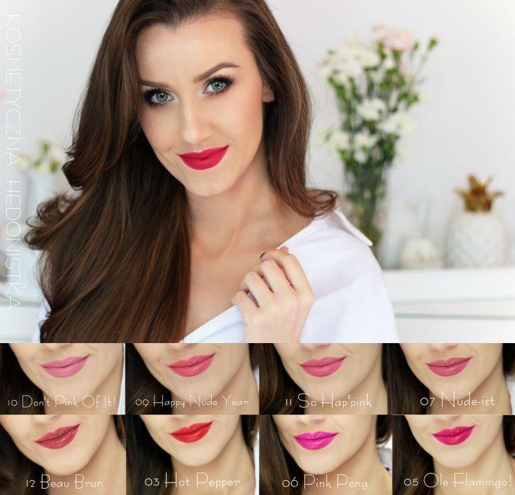 Kosmetyczna Hedonistka: Blog urodowo - lifestylowy | Pielęgnacja włosów | Makeup | Kosmetyki | Moda: BOURJOIS ROUGE EDITION VELVET CZYLI DŁUGOTRWAŁE, MATOWE POMADKI DO UST. JAK WYGLĄDAJĄ NA USTACH I DLACZEGO SĄ TAK WYJĄTKOWE?