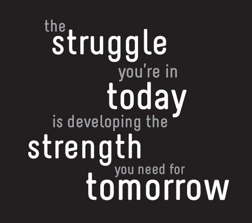 The struggle you're in today is developing the strength you need for tomorrow – inspirational quotes about strength motivational Inspirational Quotes About Strength, A Great Quote To Empower…
