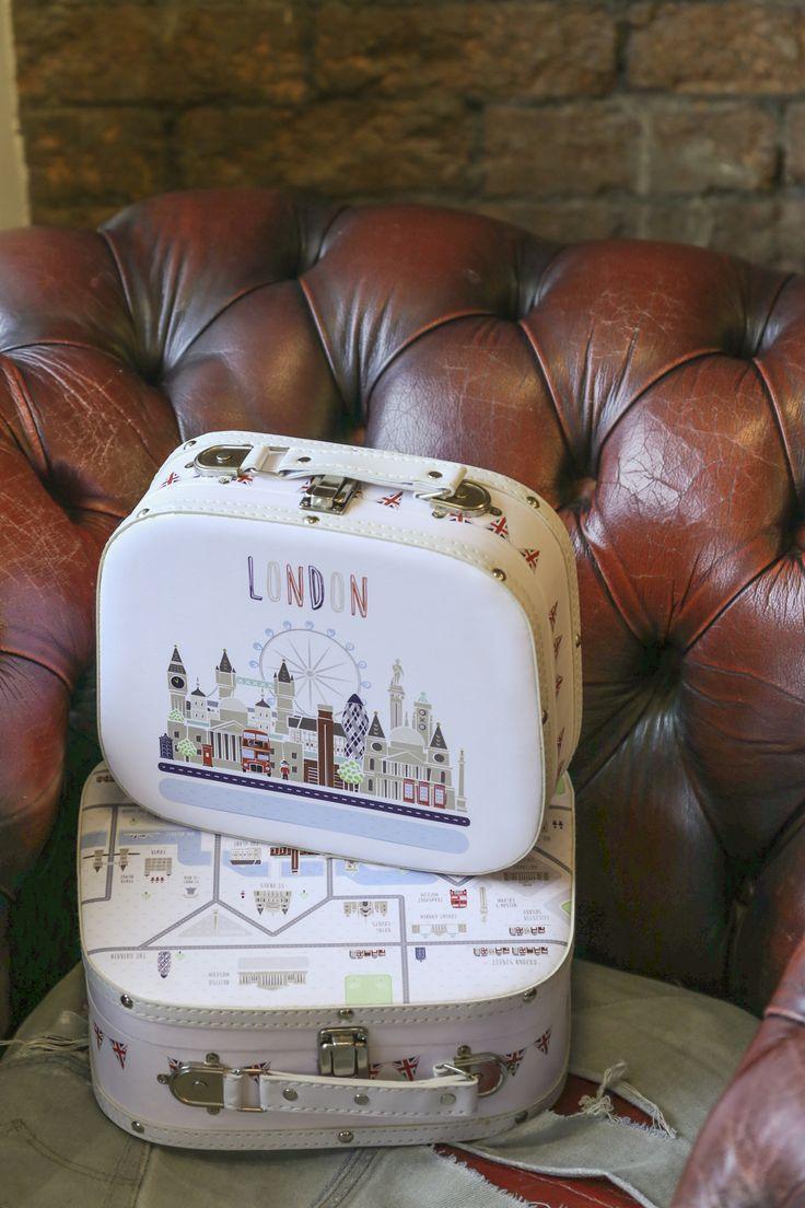 Dekorativní úložné kufříky s motivem London Icons od Puckator Design. #doplňky #londonicons #puckatordesign
