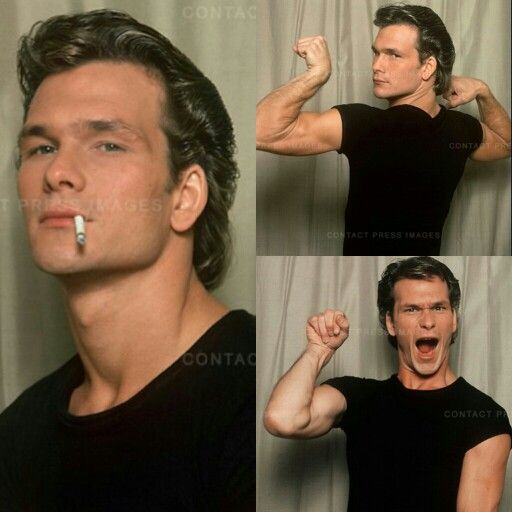 And here we have Patrick Swayze (RIP) being a dork XD