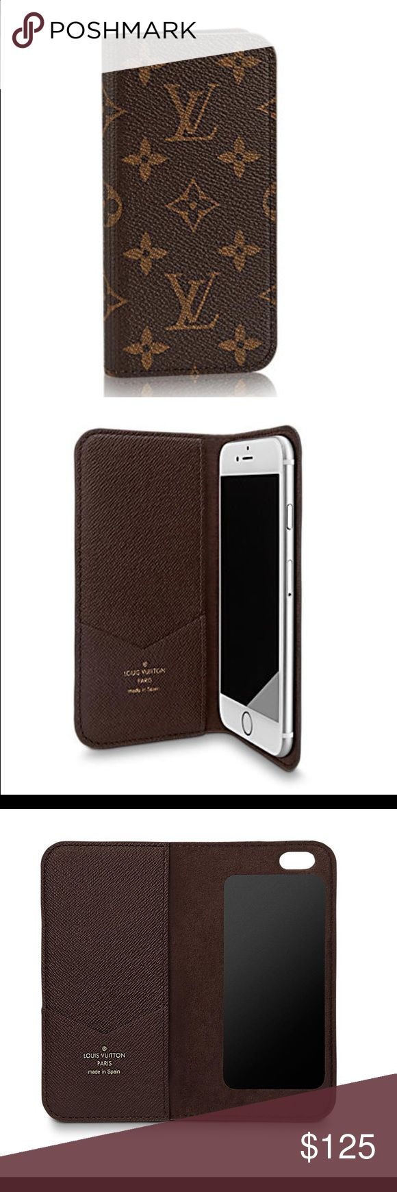 Louis Vuitton iPhone 6/6s Folio Like new. Beautiful LV case with original box and cloth bag. Was a gift and I got an iPhone 6 Plus shortly after receiving it. Loved the convenience of keeping credit cards & cash in it. Louis Vuitton Accessories Phone Cases