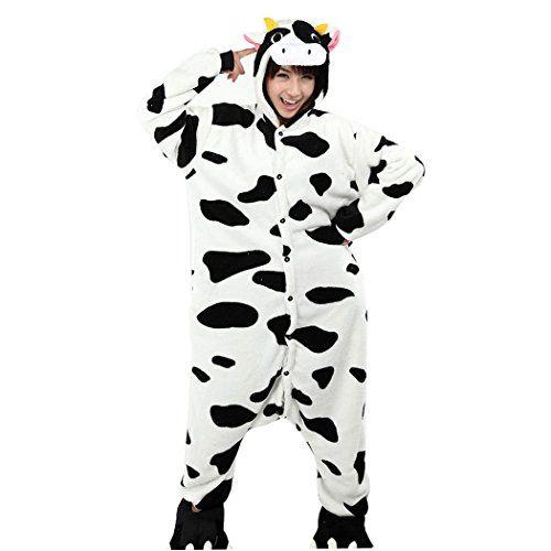 happy cherry franela disfraz de animal cosplay hombre mujer pijama mono pajama costume halloween carnaval fiesta navidad u vaca negra blanca talla xl