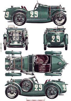 59 best classic cars blueprint images on Pinterest | Vintage cars ...