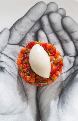 """Restaurant """"L'Acajou"""" : cuisine française. Chef : Jean Imbert. --  35 bis rue Jean de la Fontaine, 75016 Paris"""