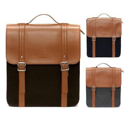 unihood Mens Bag Faux Leather Wool Backpack Bookbags Classic Backpacks Bags   eBay £33