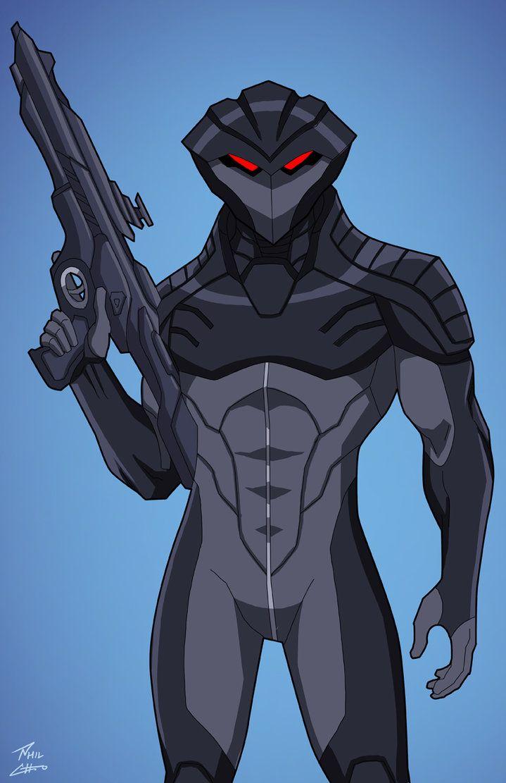 Black Manta (Earth-27) commission by phil-cho