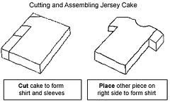 To make baseball jersey cake