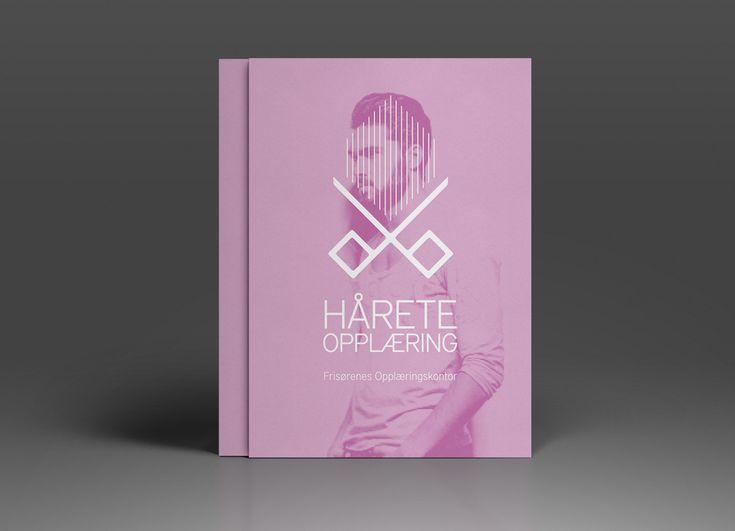 Logo og identitetsdesign for Hårete Opplæring - Frisørenes opplæringskontor. Se prosjektet på: http://www.norgesdesign.no/logo-og-identitetsdesign-harete #frisør #design #branding #logo #norgesdesign #hårete