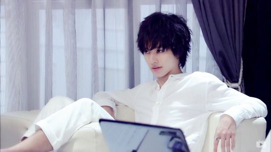 "L from Ep.7, Aug/16/'15     [Preview, Ep.8] http://www.youtube.com/watch?v=w1dbgZR2MSs    Kento Yamazaki, Masataka Kubota, Hinako Sano.  J drama series ""Death Note"",  [Ep. w/Eng. sub] http://www.dramatv.tv/search.html?keyword=Death+Note+%28Japanese+Drama%29"
