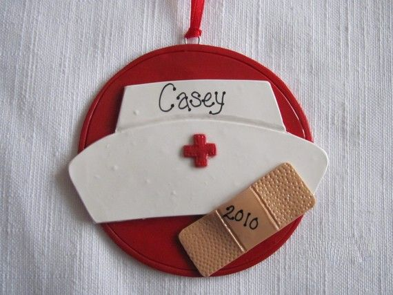 Nurse Ornament by putzigbaer on Etsy, $7.00.. cute present for the nurse in your life!