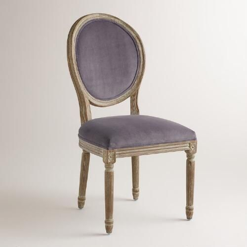 One of my favorite discoveries at WorldMarket.com: Plum Velvet Paige Round-Back Dining Chairs,  Set of 2
