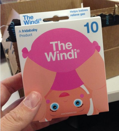 The Windi = helps babies relieve gas