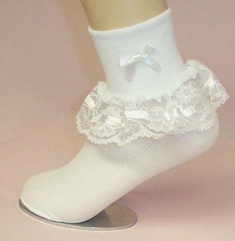 These are what completed your Sunday dress look, Easter outfits, etc. we had so many of these socks!!!!