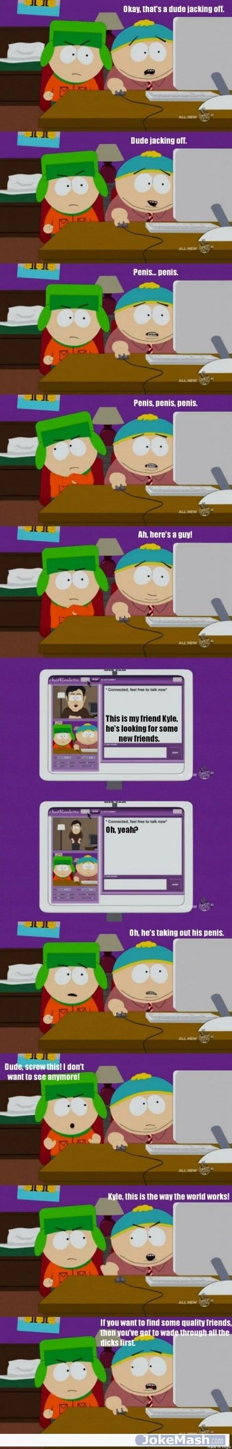 Chat-roulette South Park Style
