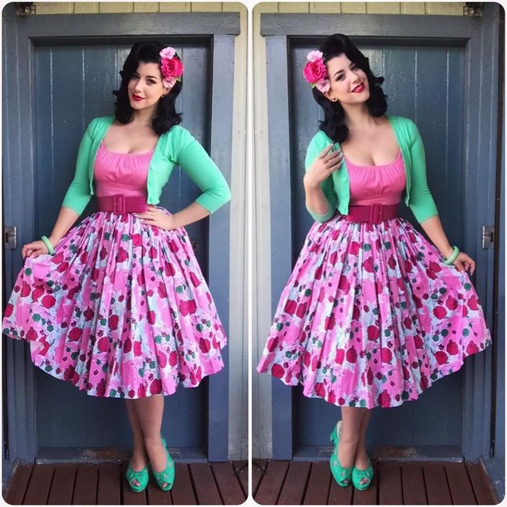 Pinup Girl Clothing Top, Skirt, Belt and Cardigan, BAIT Footwear Shoes