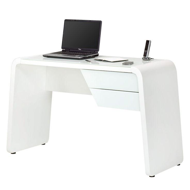 Eckschreibtisch weiß matt  Schreibtisch CSL 430 - Weißglas / Matt Weiß, Jahnke Jetzt ...
