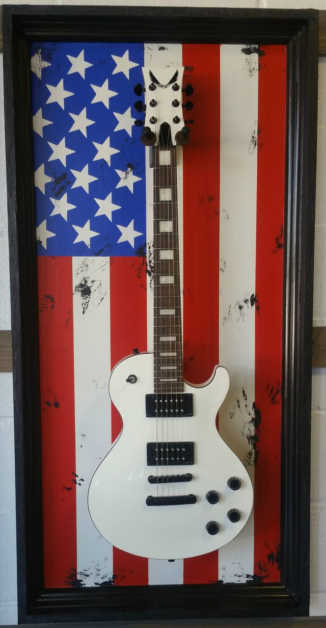 "G Frames ""All American"" Guitar Display Case"