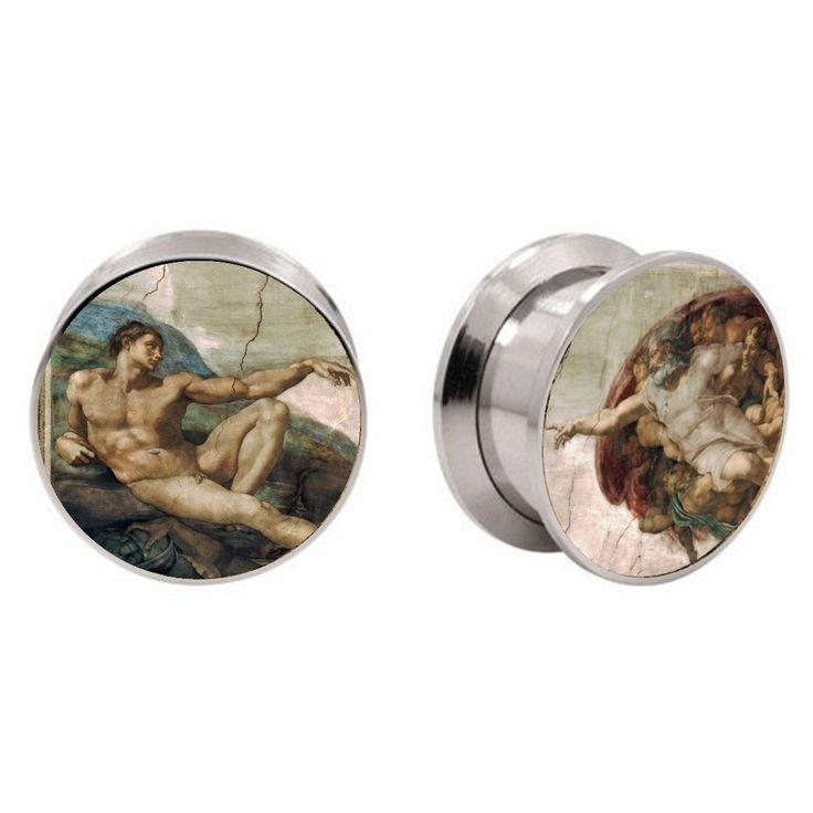 Bodfx Exclusive Ear Stretching Plugs 1 Pair Sistine Chapel Fresco Ear Gauges | eBay