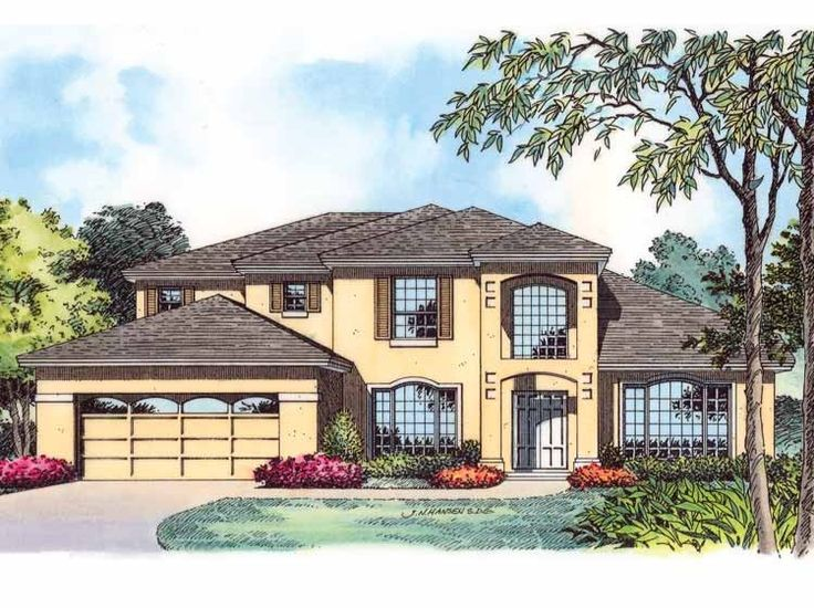 Eplans Mediterranean House Plan Traditional And