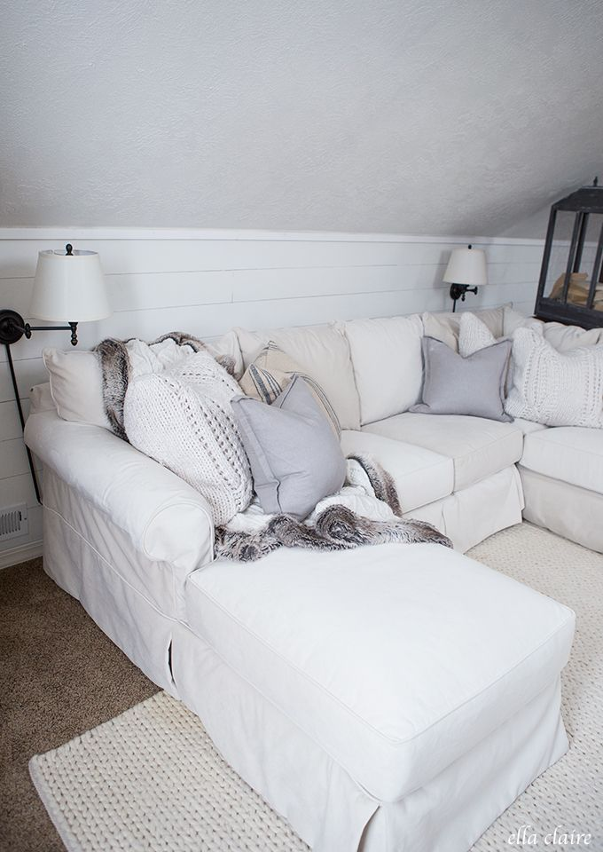 Creating a Cozy and functional space with a family room and playroom combination.