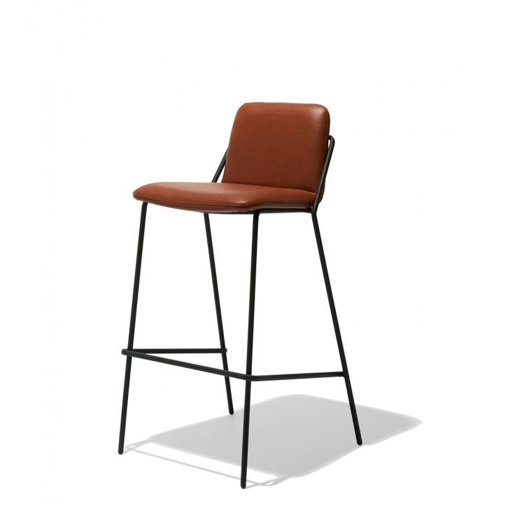 Industry West Sling Bar Stool Leather Fiction
