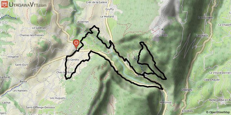 [Haute-Savoie] Voie Romaine Ce parcours a été effectué en VTTAE. Il emprunte la voie romaine au-dessus d'Allèves au départ de Cusy. Les 13 premiers kilomètres permettent de s'échauffer par quelques chemins avant l'ascension par la voie romaine (grosses dalles avec pente à 20 %). Puis belle descente en sous-bois pour rejoindre Allèves, un peu de route, une grosse descente technique sous le pont de l'Abîme avant de remonter sur Cusy.