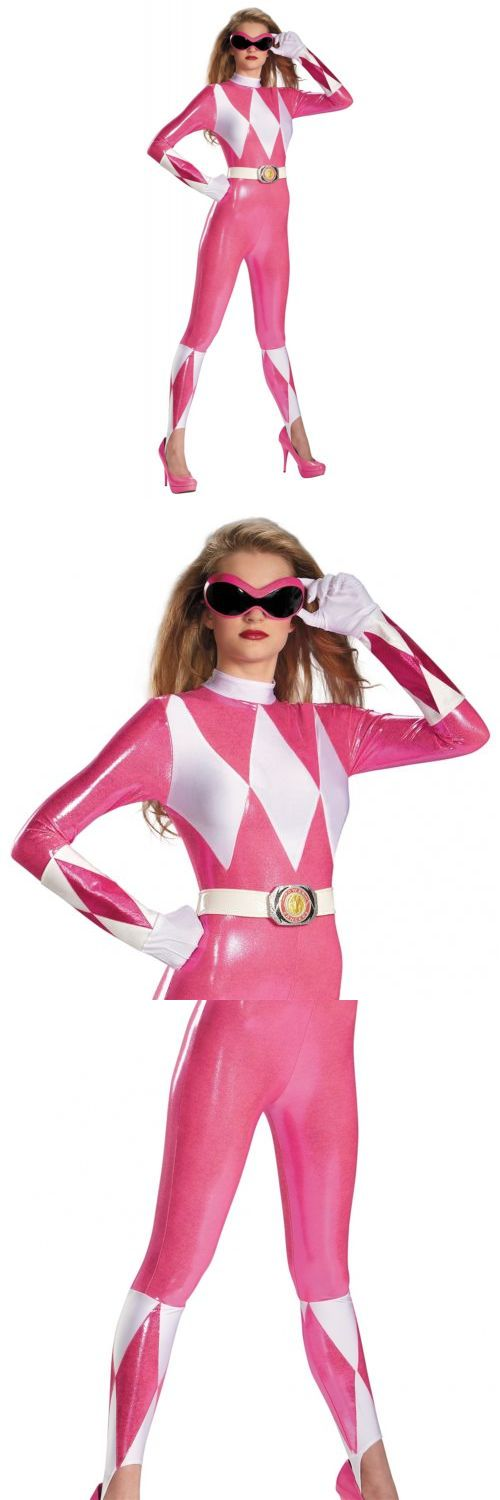 Women 53369: Pink Power Ranger Costume Adult Bodysuit Mighty Morphin Halloween Fancy Dress -> BUY IT NOW ONLY: $47.89 on eBay!
