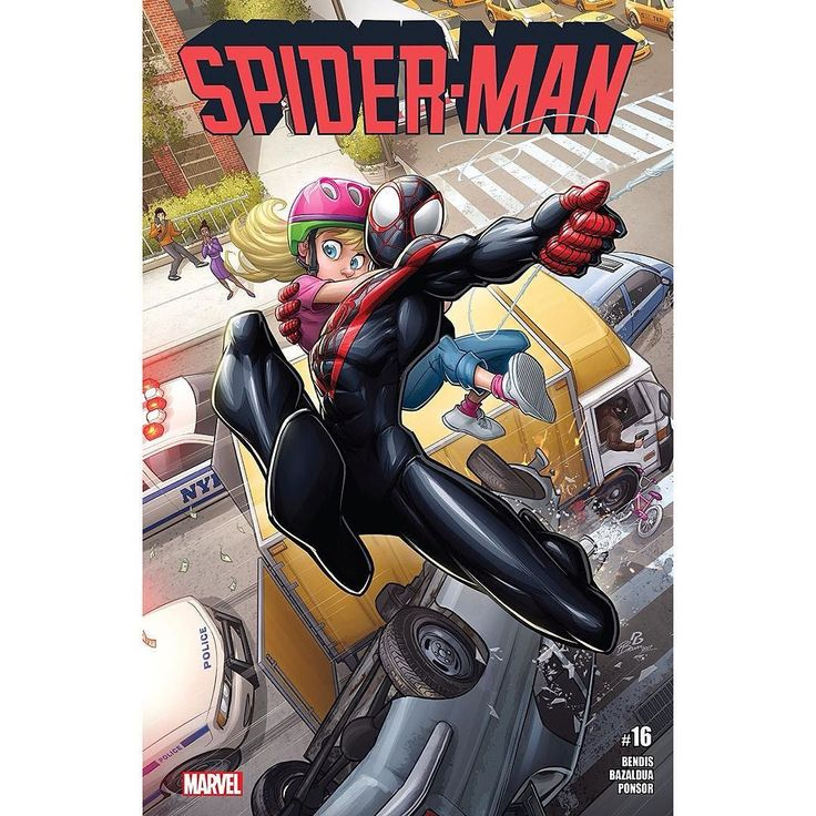 Spider-Man (2016-) #16 Written by Brian Michael Bendis Art by Oscar Bazaldua Cover by Patrick Brown Spider-Man needs a win. After an insane universe-jumping crossover with SPIDER-GWEN and his tumultuous home life Miles needs an honest-to-god Friendly Neighborhood Spider-Adventure. He's got his sights set on the unfinished business with Black Cat! We never said Miles makes the best choices.