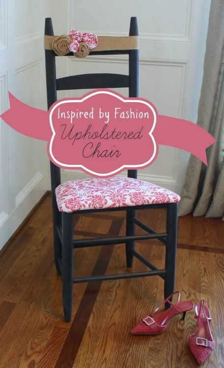 Adorable no-sew upholstered chair