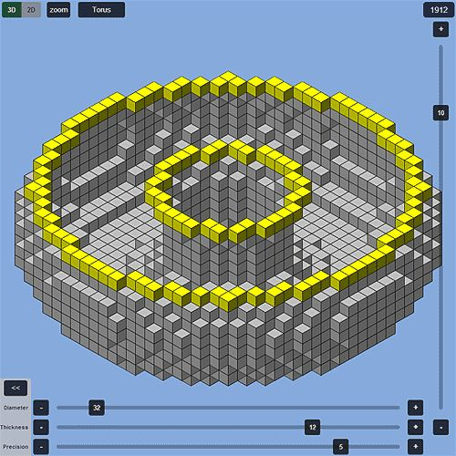 Create Minecraft spheres, ellipsoids, torus, wizard towers and more in your web browser.