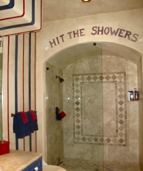 Superb I Like This Sporty Bathroom. Boys Baseball Themed Bathroom