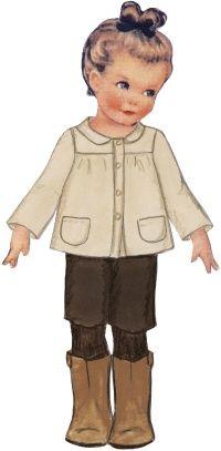 Isild : veste évasée, empiècements devant et dos, non doublée, de Citronille
