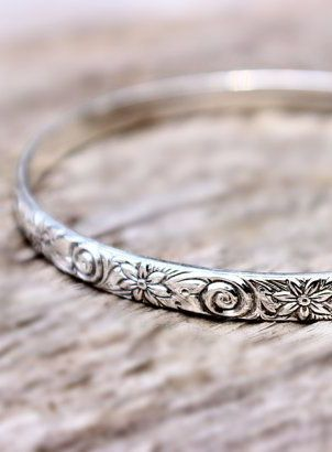 Sterling Silver Bracelet Stacking Bangle